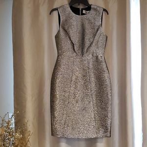 Diane Von Furstenberg Metallic Dress